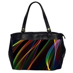 Rainbow Ribbons Office Handbags (2 Sides)  by Nexatart