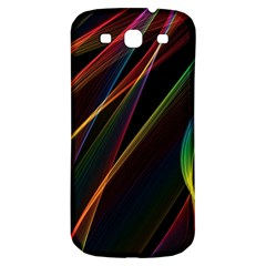 Rainbow Ribbons Samsung Galaxy S3 S Iii Classic Hardshell Back Case by Nexatart