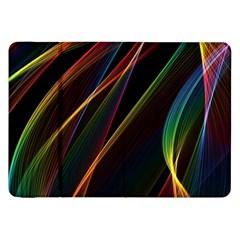 Rainbow Ribbons Samsung Galaxy Tab 8 9  P7300 Flip Case by Nexatart