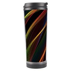 Rainbow Ribbons Travel Tumbler by Nexatart