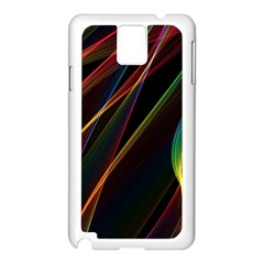 Rainbow Ribbons Samsung Galaxy Note 3 N9005 Case (white) by Nexatart