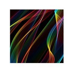Rainbow Ribbons Small Satin Scarf (square) by Nexatart