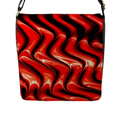 Red Fractal  Mathematics Abstact Flap Messenger Bag (l)  by Nexatart
