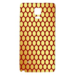Red And Gold Effect Backing Paper Galaxy Note 4 Back Case by Nexatart