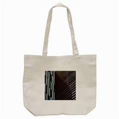 Red And Black High Rise Building Tote Bag (cream) by Nexatart