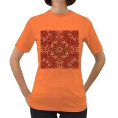 Red Tile Background Image Pattern Women s Dark T Shirt