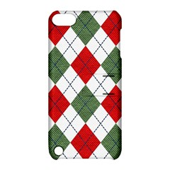 Red Green White Argyle Navy Apple Ipod Touch 5 Hardshell Case With Stand by Nexatart