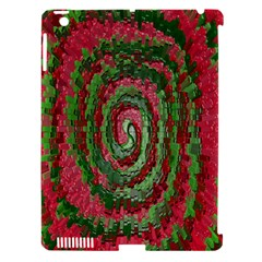 Red Green Swirl Twirl Colorful Apple iPad 3/4 Hardshell Case (Compatible with Smart Cover) by Nexatart