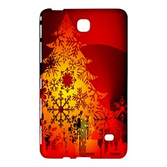 Red Silhouette Star Samsung Galaxy Tab 4 (8 ) Hardshell Case  by Nexatart