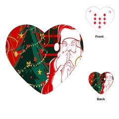 Santa Clause Xmas Playing Cards (heart)  by Nexatart