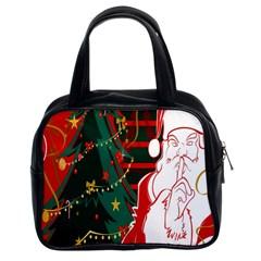 Santa Clause Xmas Classic Handbags (2 Sides) by Nexatart