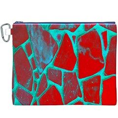 Red Marble Background Canvas Cosmetic Bag (XXXL)