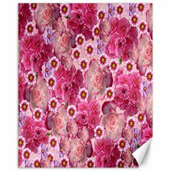Roses Flowers Rose Blooms Nature Canvas 16  x 20   by Nexatart