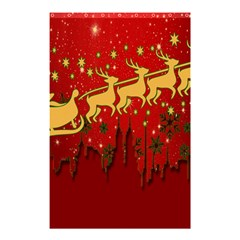 Santa Christmas Claus Winter Shower Curtain 48  X 72  (small)  by Nexatart
