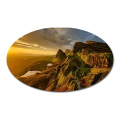Scotland Landscape Scenic Mountains Oval Magnet