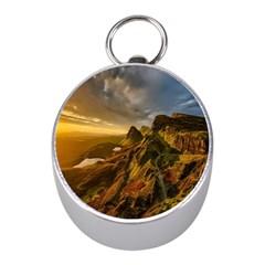 Scotland Landscape Scenic Mountains Mini Silver Compasses by Nexatart