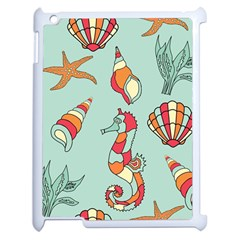 Seahorse Seashell Starfish Shell Apple Ipad 2 Case (white) by Nexatart