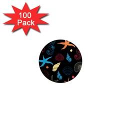 Seahorse Starfish Seashell Shell 1  Mini Magnets (100 Pack)  by Nexatart