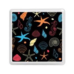 Seahorse Starfish Seashell Shell Memory Card Reader (square)  by Nexatart