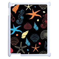 Seahorse Starfish Seashell Shell Apple Ipad 2 Case (white) by Nexatart