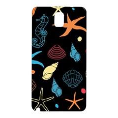 Seahorse Starfish Seashell Shell Samsung Galaxy Note 3 N9005 Hardshell Back Case by Nexatart