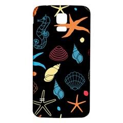 Seahorse Starfish Seashell Shell Samsung Galaxy S5 Back Case (white) by Nexatart