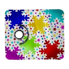 Seamless Snowflake Pattern Galaxy S3 (flip/folio)