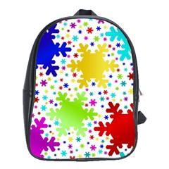 Seamless Snowflake Pattern School Bags (xl)  by Nexatart