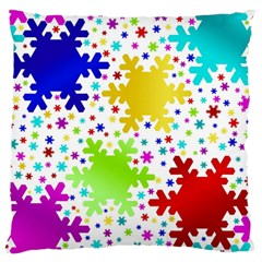 Seamless Snowflake Pattern Standard Flano Cushion Case (two Sides) by Nexatart