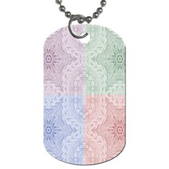 Seamless Kaleidoscope Patterns In Different Colors Based On Real Knitting Pattern Dog Tag (two Sides) by Nexatart
