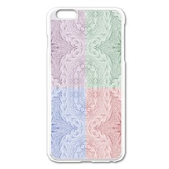 Seamless Kaleidoscope Patterns In Different Colors Based On Real Knitting Pattern Apple iPhone 6 Plus/6S Plus Enamel White Case by Nexatart