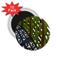 Shadow Reflections Casting From Japanese Garden Fence 2.25  Magnets (10 pack)
