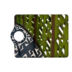 Shadow Reflections Casting From Japanese Garden Fence Kindle Fire Hd (2013) Flip 360 Case by Nexatart