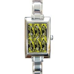Seamless Pattern Background Seamless Rectangle Italian Charm Watch by Nexatart