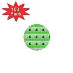 Shamrock Pattern 1  Mini Buttons (100 Pack)  by Nexatart