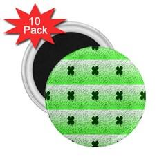 Shamrock Pattern 2 25  Magnets (10 Pack)