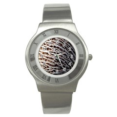 Seed Worn Lines Close Macro Stainless Steel Watch by Nexatart