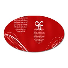 Simple Merry Christmas Oval Magnet
