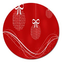 Simple Merry Christmas Magnet 5  (round) by Nexatart