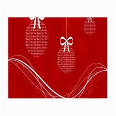 Simple Merry Christmas Small Glasses Cloth by Nexatart