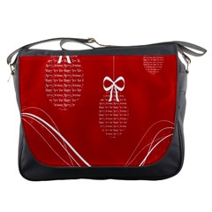 Simple Merry Christmas Messenger Bags by Nexatart