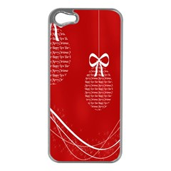 Simple Merry Christmas Apple Iphone 5 Case (silver) by Nexatart