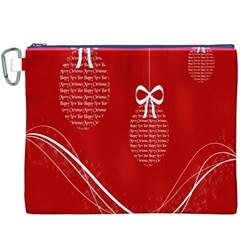 Simple Merry Christmas Canvas Cosmetic Bag (xxxl) by Nexatart