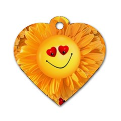 Smiley Joy Heart Love Smile Dog Tag Heart (one Side) by Nexatart
