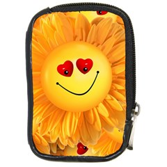 Smiley Joy Heart Love Smile Compact Camera Cases by Nexatart
