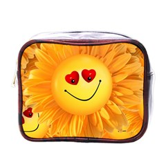 Smiley Joy Heart Love Smile Mini Toiletries Bags by Nexatart