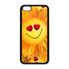 Smiley Joy Heart Love Smile Apple Iphone 5c Seamless Case (black) by Nexatart