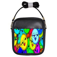 Smiley Girl Lesbian Community Girls Sling Bags by Nexatart