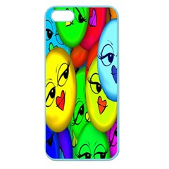 Smiley Girl Lesbian Community Apple Seamless Iphone 5 Case (color) by Nexatart