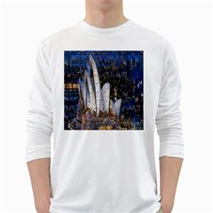 Sidney Travel Wallpaper White Long Sleeve T Shirts by Nexatart